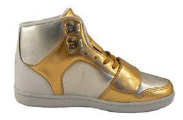 Creative Recreation Womens Gold Silver Cesario Hi Top Gym Shoes Sneakers 6US NIB image 4