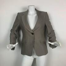 Armani Colezzioni Blazer Stripes Beige Brown women Size 8 Italy - $89.99