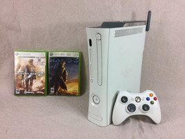Xbox 360 14gb w/ Controller, MW2, Halo 3, Wireless Adapter, and cables - $84.14