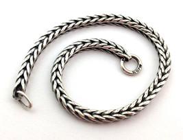 Authentic Trollbeads Troll .925 Sterling Silver Bracelet, 7.1 Inch, 1521... - $36.01