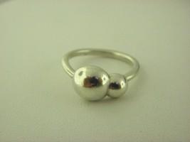 Pandora Liquid Silber 2 Blasen Ring Größe 7 - $45.07