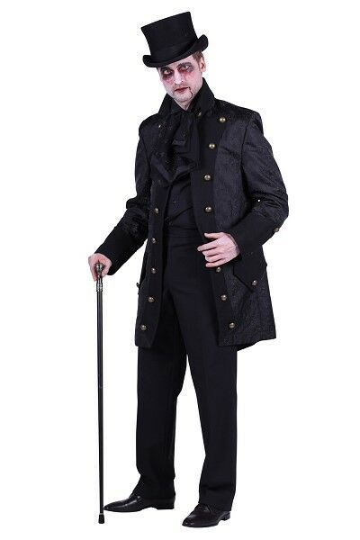 Deluxe Gothic Jacket - Black / Black - Dracula / Count