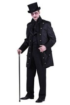 Deluxe Gothic Jacket - Black / Black - Dracula / Count  - $63.94