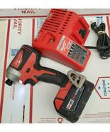 "Milwaukee 2850-20 M18 18V 1/4"" Brushless Compact Impact Driver 18V 3.0 AH  - $110.33"