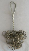 Primitive Wire Metal Chain Cast Iron Pot Bottle Scrubber w/ Twist Handle - $20.00
