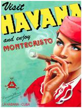 """18x24""""Decor poster.Interior design.In Havana Cuba,enjoy Montecristo ciga... - $19.95"""