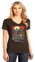 Teenage Mutant Ninja Turtles District Made Ladies V-Neck T-Shirt Size XS To 4XL - $19.99+
