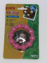 Nuby Soothing Teether Soft Silicone Beads 3M+ PINK - $8.31