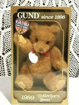 Vintage Gund limited Edition 1989 Collector's Bear with box  - $19.79