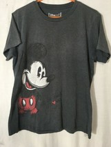 Disney Store Unisex mickey Mouse Graphic T Shirt Gray Size XL - $22.00