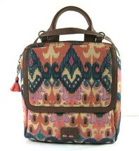 The Sak $199 NWT Blue Multi Back Pack Book Bag Small Loyola Zip Top Canv... - $89.09