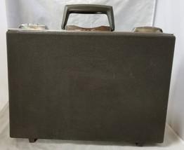 Vintage Oshkosh Hard Briefcase Attache Gray Case Travel File Folders 17.... - $38.69