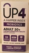 (New) UP4  Probiotic Adult 50+  25 Billion CFU 60 Veggie Capsules Exp 7/... - $11.38