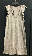 IRR Current Elliott Shirt Dress Ruffles The Cadence Scoop-Neck Heathered  *1 image 4