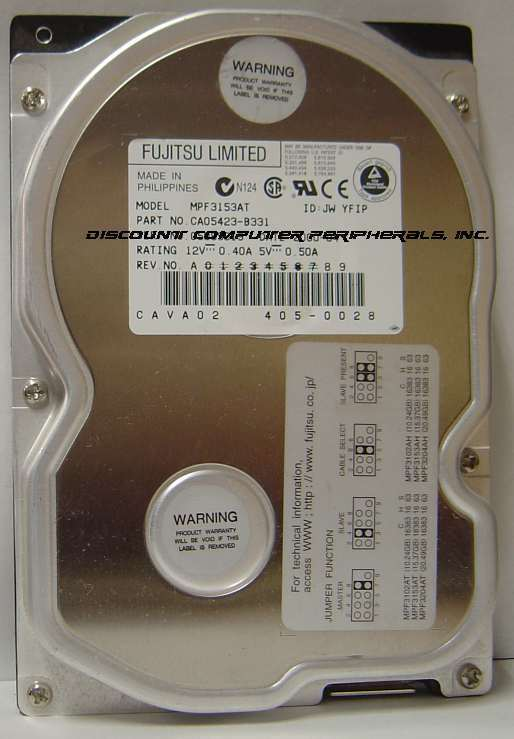 15GB 3.5in IDE Drive Fujitsu MPF3153AT Tested Good Free USA Ship Our Drives Work