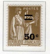 1934 Peace Allegory Overprint Mint France Postage Stamp