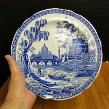 Spode Blue Room Collection Rome Dinner Plate White with Blue Design - $19.79