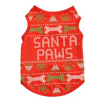 Christmas Pet Dog Clothes for Small Dogs Shirt Soft Dog Clothing Chihuah... - $411,60 MXN