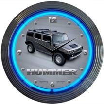 "Hummer Banner Neon Clock 15""x15"" - $69.00"