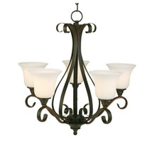 Hampton Bay Westwood 5 light Chandelier, Oil Rubbed Bronze, IAY8115A-4 - $49.49