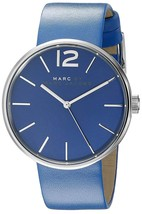 Marc Jacobs Women's MBM1364 Peggy Blue Leather Watch - $95.69
