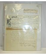 RARE 1890 Settlement of Debt Henry F. Campbell to William E. Benson - $51.74