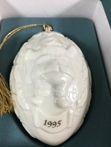 "Lenox 1995 Annual Ornament Santa Claus 5"" Ivory China 24K Gold Christmas... - $45.57"