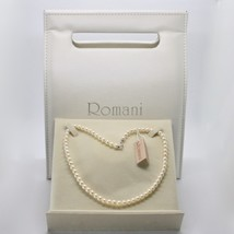 Necklace White Gold 18KT And Silver 925 With Pearls 5.5 6 Mm Beautiful Box - $189.45