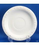 """Rosenthal Maria V Saucer White Porcelain Embossed Rose Rim 5-5/8"""" w 2"""" I... - $8.91"""