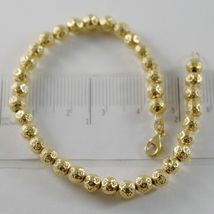 THREE 18K WHITE ROSE AND YELLOW GOLD BRACELET BRACELETS WITH BALLS MADE IN ITALY image 5