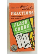 Fractions Flash Cards Learn With Parent Teacher Aid Numbers Math Arithme... - $14.01