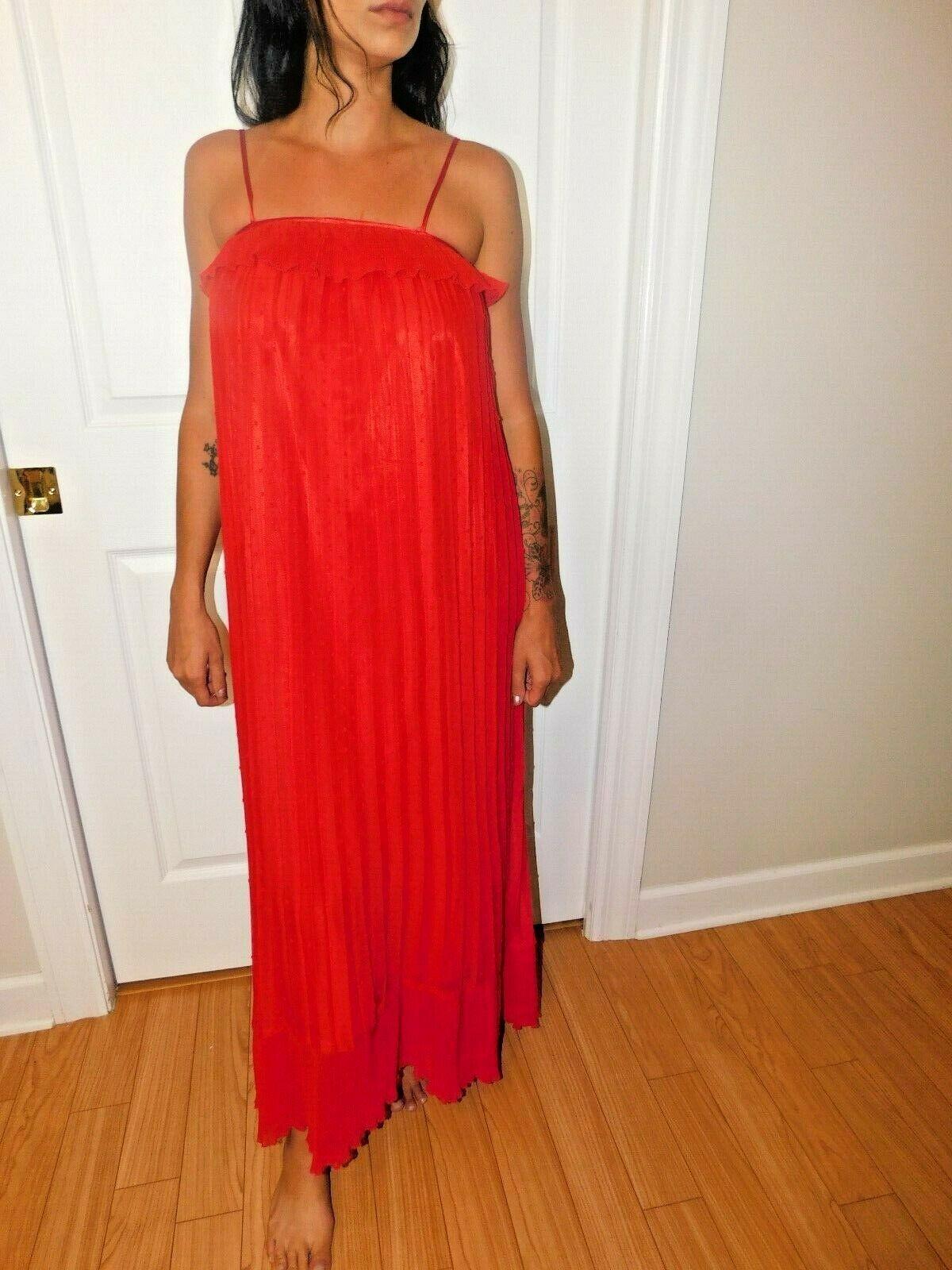 FREE GENERATION PLEATED SLEEVELESS MAXI DRESS SIZE XS NWT $220