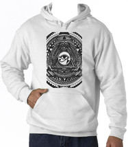 Illuminati Collage 2 - New Cotton White Hoodie - $39.39