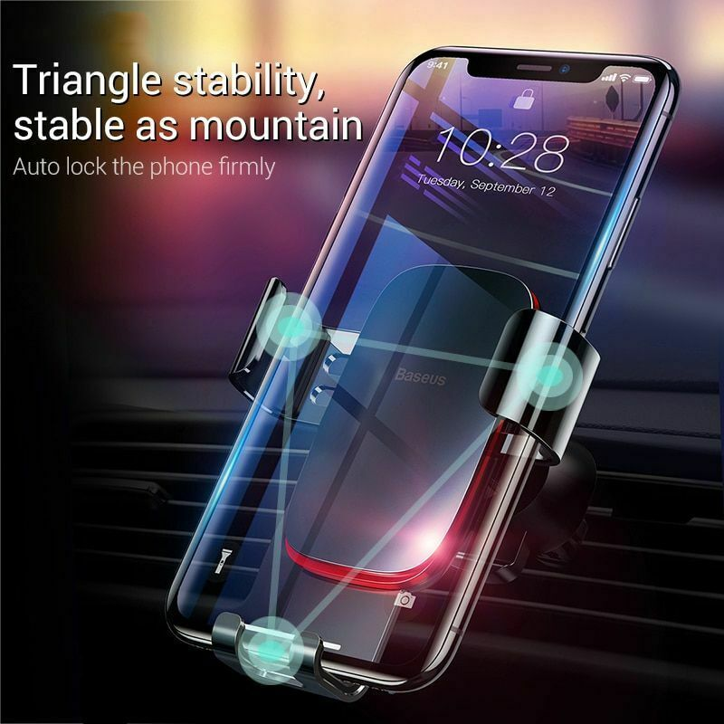 """Car Mobile Holder 4-6.0"""" Air Vent Mount Metal Gravity Universal Smartphone Stand image 2"""