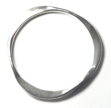 """Beautiful Sterling Silver RWMAC Abstract Solid Bangle Cuff Bracelet 3"""" H... - $49.49"""