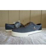 $59.00 Polo Ralph Lauren Vaughn Canvas /Suede Men's Sneakers, Gray, US 8... - $38.26