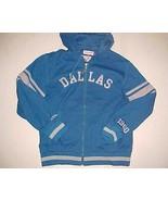 Dallas Cowboys Est. 1960 NFL NFC Throwbacks Unisex Blue Full Zipper Hood... - $98.01