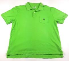Chaps Mens Size Medium Green Cotton Collared Logo Chest Pocket Polo Shir... - $4.99