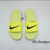 NIB Nike 819352-700 Grade School Kid Youth KAWA Slide Sandal GS/PS Volt ... - $23.95