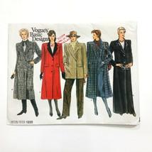 Vogue 1220 Basic Design Coat Double Breasted Welt Pockets Misses 12 Patt... - $10.65