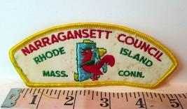 Narragansett Council Boy Scouts Patch VTG Rhode Island Massachusetts Connecticut - $10.84