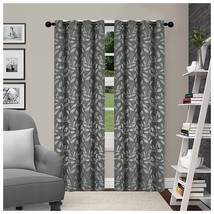Superior Leaves Blackout Curtain Set of 2, Thermal Insulated Panel Pair ... - $41.13