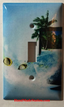 Fish Swimming out from TV Light Switch Duplex Outlet wall Cover Plate Home Decor image 1