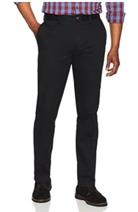 Amazon Men's Slim-Fit Wrinkle-Resistant Flat-Front Chino Pant, Black 32W X 32L