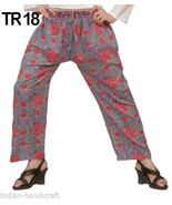 10 Cotton Hand Block Print Straight Trousers Casual Pants TR18 - $84.55