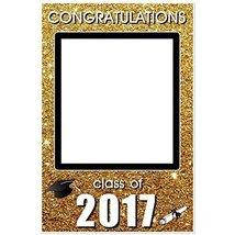 Class of 2017 Graduation Party Gold Glitter Social Media Selfie Frame Ph... - £12.13 GBP
