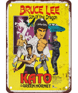 "9"" x 12"" Metal Sign - 1974 Bruce Lee as Kato in the Green Hornet - $19.95"