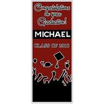 Class of 2018 Graduation Door Banner Black and Crimson Backdrop - £31.89 GBP