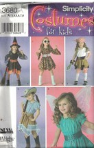 3680 UNCUT Vintage Simplicity SEWING Pattern Girls Dress Scarf Costume W... - $4.89