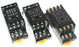 LOT OF 3, OMRON PYF14A RELAY SOCKETS